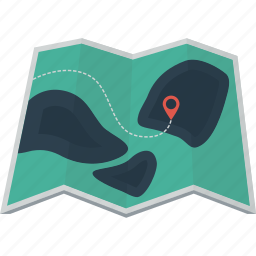 direction, hike, location, locator, map, place, walk icon