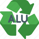 alu, delete, environmental, nature, recyclable, recycle, refresh icon