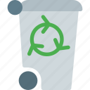 can, container, environmental, garbage, recyclable, recycling, refresh icon