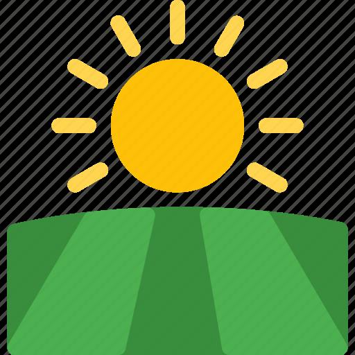 climate, forecast, nature, sea, sun, sunny, weather icon