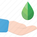 hold, leaf, protect icon