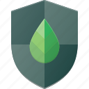 eco, leaf, nature, protect, shield icon