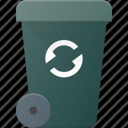bin, can, garbidge, recycle, trash, waste icon