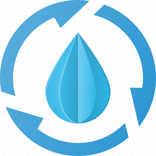 clean, drop, recycle, water icon
