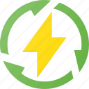 electricity, energy, recycle, renewable icon