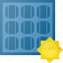 electricity, panel, recycle, solar icon