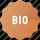bio, recycle, sticker, tag icon