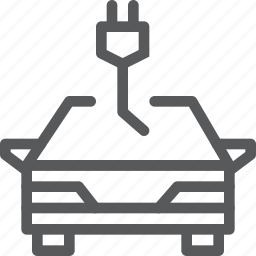cable, car, charge, eco, electric, nature, transport, vehicle icon