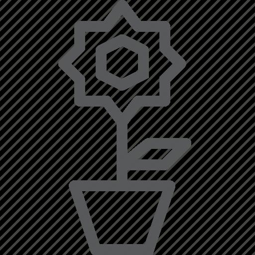 ecology, flora, flower, garden, nature, petals, plant icon