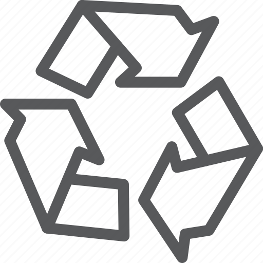 arrow, ecology, natural, preserve, recycle, sign, trash icon