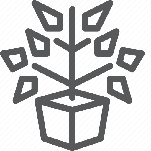 ecology, flower, garden, natural, plant, small, tree icon