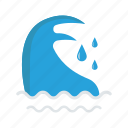 ocean, river, sea, water, waves icon