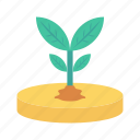 garden, growth, nature, plant, soil icon