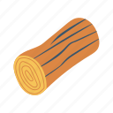 forest, garden, log, nature, wood icon