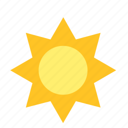 flower, light, sun, sunflower, sunny, weather icon
