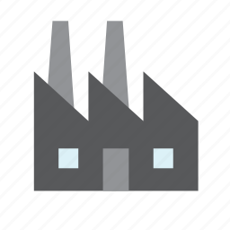 building, business, environment, factory, green icon