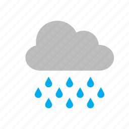 cloud, nature, rain, raining, water, weather icon