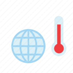 eco, ecology, global, temperature, thermometer, warming icon