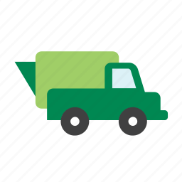 environment, garbage, green, recycle, recycling, trash, truck icon