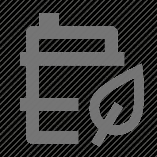 barrel, biofuel, leaf, plant icon