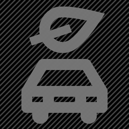 car, eco, green, leaf, nature, plant, transportation icon
