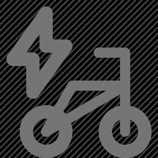 bicycle, bike, electric icon