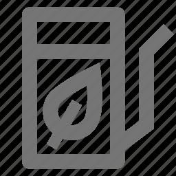 fuel, gas, leaf, oil, petrol, pump icon