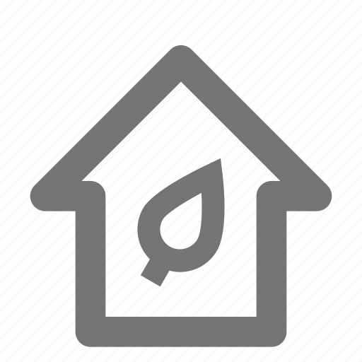 eco, home, house icon