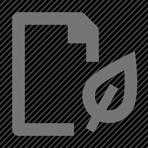 eco, file, leaf, paper icon