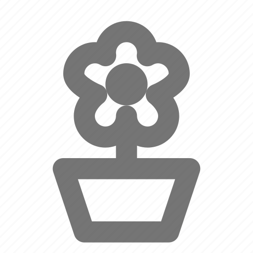 eco, flower, green, nature, petals, plant, pot icon