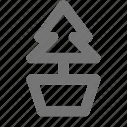 bonsai, christmas, eco, green, nature, plant, pot, tree icon