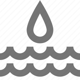 drop, nature, water, waves icon