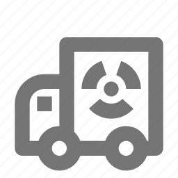 nuclear, transportation, truck icon