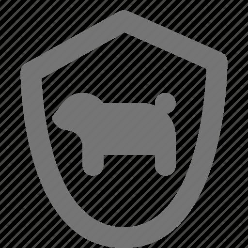 animal, dog, pet, sheild, sign icon