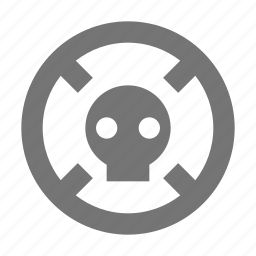 danger, skull, warning icon