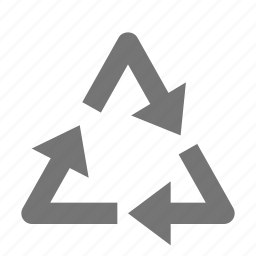 arrows, recycle, triangle icon