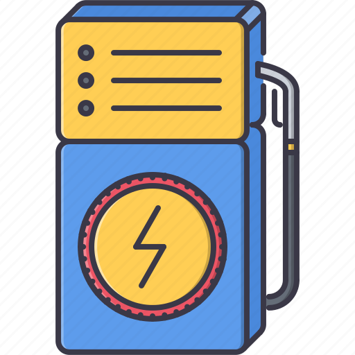 eco, ecology, electric, electricity, filling, nature, station icon