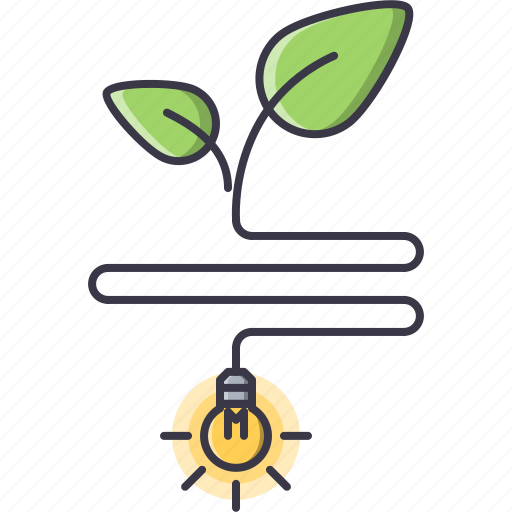 bulb, eco, ecology, energy, light, nature, sprout icon