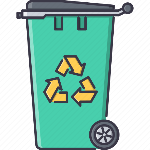 bin, eco, ecology, green, nature, recycling, trash icon