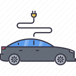 car, eco, ecology, electric, green, nature icon