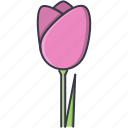 eco, ecology, flower, green, nature, tulip icon