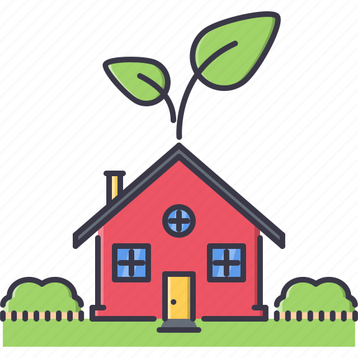 eco, ecology, garden, green, house, nature, sprout icon