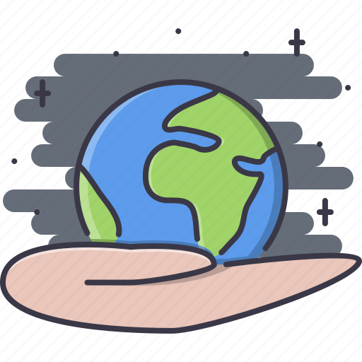 earth, eco, ecology, green, hand, nature, planet icon