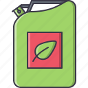 biofuels, eco, ecology, fuel, green, jerrican, nature icon