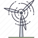 eco, ecology, generator, green, nature, wind icon