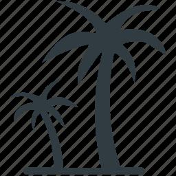 beach, coconut trees, date trees, island, palm, palm trees icon