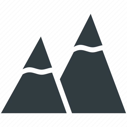 Hills, mountains, nature, snowy mountains, triangle shape icon - Download on Iconfinder