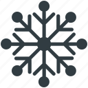 christmas, christmas decoration, snow bunting, snowflake, winter icon