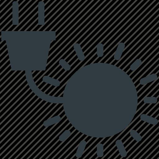 power plug, recycling, solar energy, solar power, sun icon