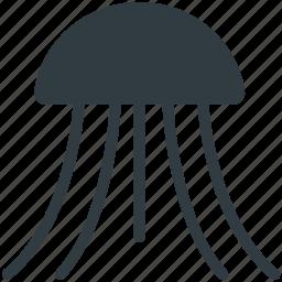 fish, jellyfish, medusa, medusan, sea life icon
